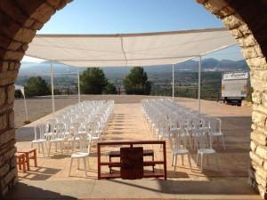 boda civil sillas